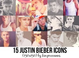 15 Justin Bieber icons. by kingmccanns