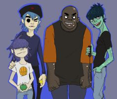 Final Piece for Brief History- Gorillaz by seannethecloud