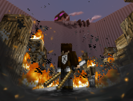 Attack on Ender Minecraft Build WIP 3 by Matau228