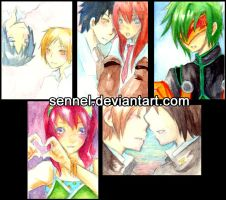 ATCs - Watercolors by Sennel