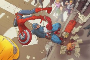 Spidey_V_Cap by BKpeter