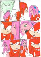 Knuckles Sakura collage by cmara