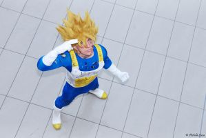 Goku cosplay battle suit damaged #2 by Alexcloudsquall