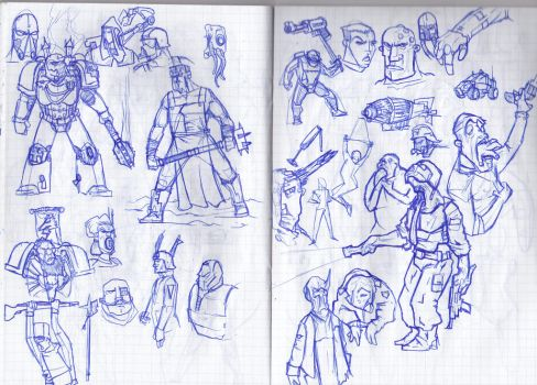 Some sketches from the University's notes 2 by LordCarmi