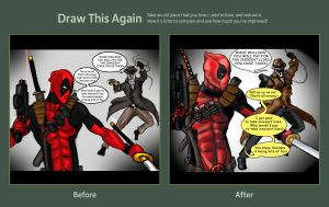 redraw this Rorschach Vs  Deadpool by TheFireAngel