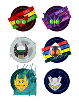 Tokusatsu Buttons by Dragon-FangX