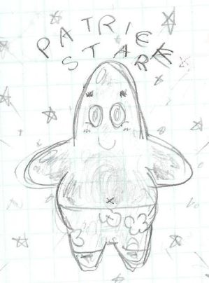 patrick star wallpaper. Patrick Star doodle