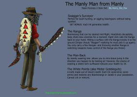 Team Fortress 2 Set concept- Manly Sniper Set by Harry-the-Fox