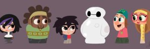 Disney's Big Hero 6 cute pawns by princekido