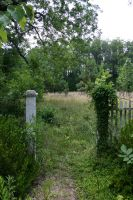Old Garden Fence Entrance 006 by poeticthnkr
