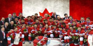 Team Canada Mens Gold Medal Header by Musicislove12