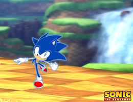 Sonic in Green Hill by SoraIroDJ