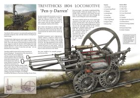Trevithick's 1804 Locomotive by VonBrrr