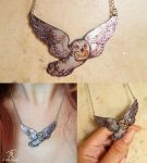 Hedwig Necklace by TrollGirl