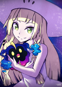 Pokemon Sun and Moon Lillie [speedpaint] by Lil0Kiseki