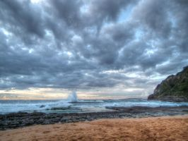 Overcast Beach Sunrise by BrendanR85