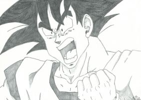Dragon Ball Z Goku Charging by RudeKaiser396