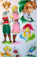 The legend of zelda doodles by InkGirl-san