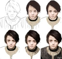 Arya Stark Progression by TheRaRaRabbit