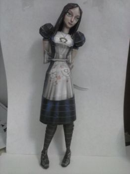 American McGee Alice - Papercraft by juanviera22