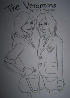 The Veronicas WIP Ink Lined by DoofusMaximus