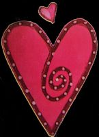 Tag1 - Pink Hearts On Black by Gracies-Stock
