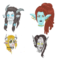 Floating heads by riotfury