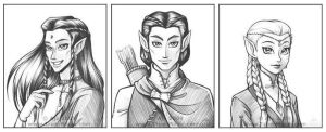 Elven Trio by Vanilleon