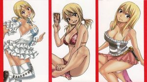 Fairy Tail Lucy Outfits by HibouMan