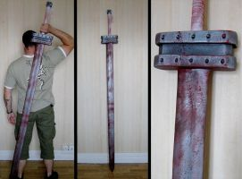 Guts' golden age sword by InfectedGuili