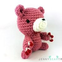 Pink Gloomy Bear Amigurumi Plush by jennybeartm