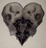 Heart Skull by your-mom--burn