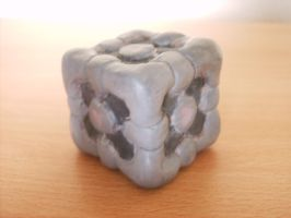 Clay Weighted Companion Cube by BestTimes8812
