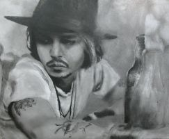 Depp doodle by kittybox