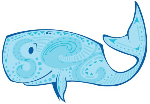 Blue Tat Whale by KM-cowgirl