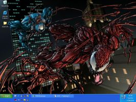 Venom Vs. Carnage by shadowknuxx