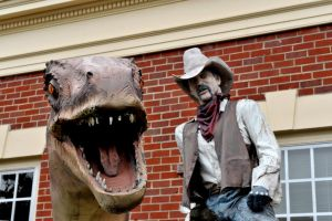 Dinosaur and cowboy by lawout16