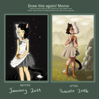 Catgirl - Draw this again by solray-chan