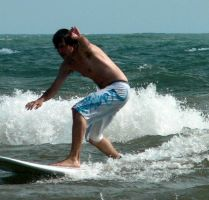 Surfing on Lake Erie by j-a-x