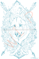 Queen of all wolves |Tattoo wip by AgentWhiteHawk