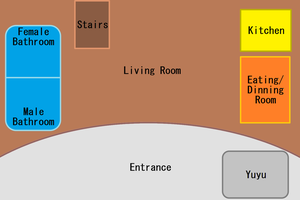 Map of Saigyouji Apartment Building - First Floor by TheYamiClaxia