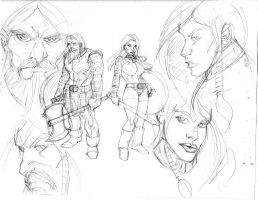dwarf prep sketch for aeon by Selkirk