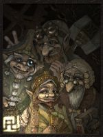 Echo Faces: Gnomes by MarylinFill