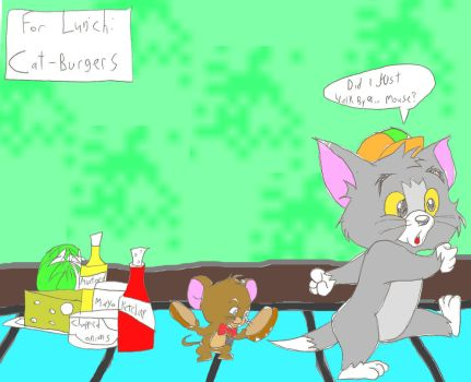 Jerry about to Eat Timmy by CartoonLovingFeline