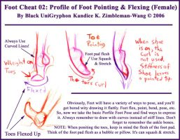 Foot Cheat 02 Point n Flex by BlackUniGryphon