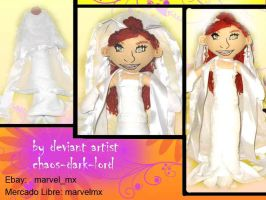 bride and groom plushie novia by chaos-dark-lord