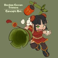Bamboo Cannon Tristana Concept Art by Nestkeeper