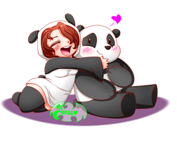 Panda and Jaess by JaessJinx