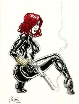 Black Widow Commission 01 by John-Stinsman
