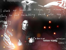Damon Salvatore Wallpaper by 25djadja